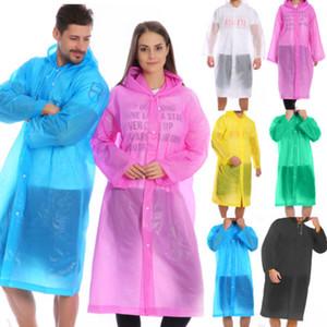 الأزياء EVA النساء الرجال معطف واق من المطر ماء سميكة عزل معطف واق من المطر المعطف واقية ثوب الكبار شفافة البدلة التخييم هوديي ملابس ضد المطر