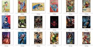 134 modèles différents Cartoon signes d'étain film héros vintage décoration murale plaque métal héros américain peinture affiche