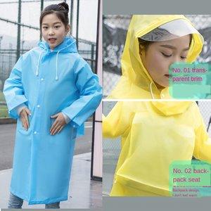 HLDRi le manteau de pluie pour les enfants avec les filles sac de sac Cloak randonnée enfants de l'école primaire des étudiants grands enfants poncho imperméable sac à dos