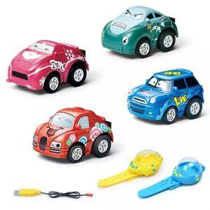 Gravity Sensing 4CH voiture de contrôle de voiture RC voitures avec contrôleur de montre portable 4 couleurs cadeau de voiture de contrôle à distance pour les enfants