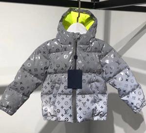A008 luxe bébé garçon Blouson Bébés garçons Manteau à capuchon enfants Vêtement chaud épais Vestes bébé Filles Garçons Vêtements d'extérieur à double face