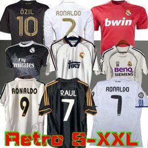 Retro 10 11 12 Real Madrid de fútbol Jersey de fútbol GUTI Ramos McManaman 13 14 15 RONALDO ZIDANE Beckham 06 07 00 1999 RAUL Robinho Carlos