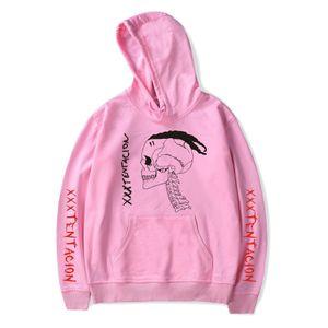 새로운 XXXTENTACION 랩퍼 기념 풀오버 스웨트 XXX 보복 편지 손 팜 스웨터 남성 여성 패션 디자인 후드 인쇄하기