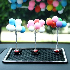 OLOMM New Auto Ornaments Multicolour Lovely Balloon Car Decoration Mini Console Dashboard Decoration Car Interior Supplies