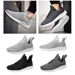 outdoor walking men running shoes triple black grey white net mesh breathable trainers sports designer sneakers size 39-45