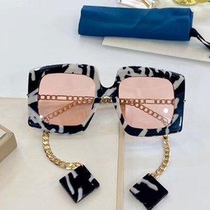 Earrings güneş gözlüğü dikdörtgen çerçeve bayanlar tasarımcı ile Moda klasik 0722S gözlük UV400 koruyucu güneş gözlüğü 0722 güneş gözlüğü