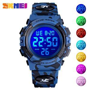 SKMEI Digital Kids relojes deportivos pantalla de colores para niños de pulsera Reloj despertador Boyes Reloj Reloj del relogio infantil Boy 1548