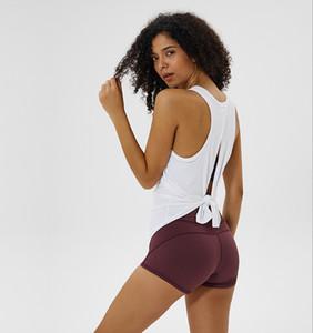 Sexy Women Yoga Gilet T-shirt Designer Creux Dos Sports Sports Fitness Débardeur Yoga Running Gym Jogging Gilet Tops