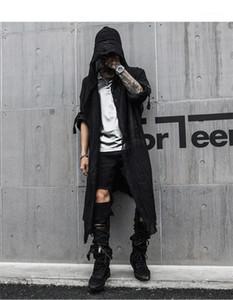 Mens Frühlings-neue Hoodies Soild Farbe Fashion Style Lange Kleidung Homme Cardigan Lässige Kleidung lose Designer