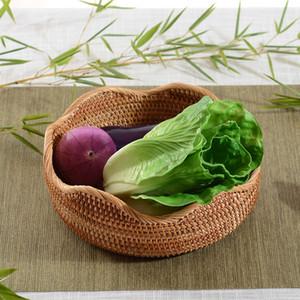 Diverso Li Home Furnishing rattan intrecciato articoli Frutta a disco Fruits Basket Candy Box Rattan carrello di un soggiorno a secco