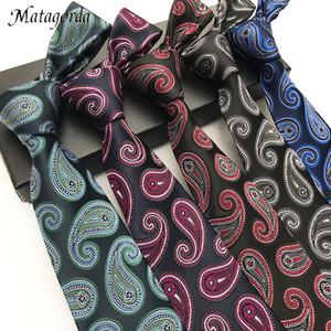 Variety of Trendy Mens Accessories Fashion Tie Male Necktie Paisley Cashew Neckwear 8CM Silk Neckcloth Father's Day Gift Gravata