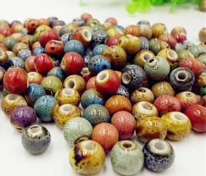 200PCS perles en porcelaine avec Leopard Dot en céramique BRACELET BRÉSANT BIJOUX FAISANT 8 MM 10 MM