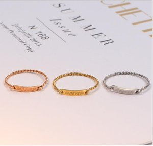 Korean version of the thin bones suffix ring rose gold twist joints ring single diamond ring female