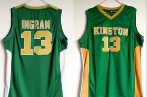 Kinston lycée 13 Brandon Ingram Jersey hommes vert pour le sport de basket-ball Maillots Ingram Ventilateurs Respirant uniformes Wholesales