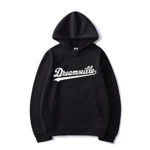 2020 New Dreamville Sweats à capuche J Cole Couleur unie Imprimer Sweat à capuche Hommes Femmes Sport Hip Hop Pull à capuche Casual Hauts Manteau