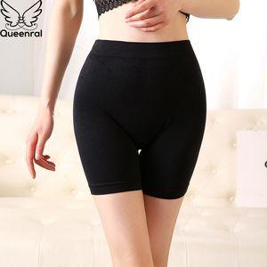 Pantaloni corti di sicurezza Queenral per le donne sotto i pantaloncini della gonna Pantaloncini corti femminili Biancheria intima senza cuciture traspirante Mutandina a vita media