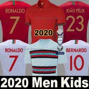 Maglia da calcio Portogallo 2020 2021 Portugal soccer jersey 2018 RONALDO ANDRE SILVA PEPE J.MARIO QUARESMA BERNARDO NANI EDER squadra nazionale migliore qualità Thailandia shirts