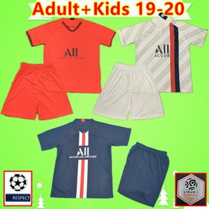 PSG Men Kit Kids kit 19 20 maillots de foot MBAPPE футбол джерси для взрослых CAVANI 2019 2020 детский костюм футболка парижский костюм PARIS  для мальчиков soccer jersey shirt