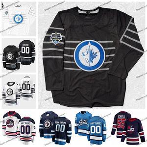 2020 All Star Game 55 Mark Scheifele 37 Connor Hellebuyck Personalizar Winnipeg Jets Hockey Jerseys Kyle Connor Byfuglien Copp Laine Wheeler