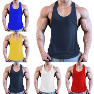 Jogger Tank Top Elastic Hot Sale Mens Gym Singlet Training Bodybuilding Tank Top Vest Sleeveless Fitness Shir Sport Top