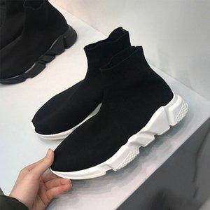BalenciagaSockshoesLuxuryBrandDesignershoes  обуви тапок женщин скорость тренер черный красный белый желтый Clearsole Fluo Серый Зеленый мужской моды случайные обувь 36-47