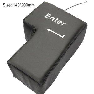 Supersized USB Enter Key Pillow Desktop Nap Pillow Stress Relief Tool for Home Office Computer Laptop Sponge Pad Novelty Gift