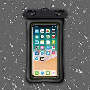 Sıcak Satıcı Su Geçirmez Kılıf Su Geçirmez Çanta 9 Renk Dalış Yüzme Telefon Kılıfı Kapak Evrensel Cep Telefonu Kılıfları için Ip 7 8 Samsung Xiomi