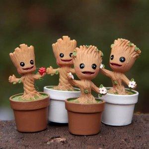 GS Mini Garden Flowerpot Groot toys Figure Action Pop Guardians of The Galaxy Pots Figure Toys Home Office decor
