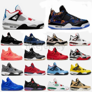 New Bred What the 4 4s Tiger Camo WNTR Loyal Blue White Cement Cactus Jack Cool Grey Mens Basketball Shoes Women Sports Sneakers