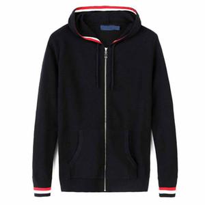Gilet à capuche Fashion-hiver manteau épais chandail Designer Hommes Pulls Automne Marque Casual Sweat Zipper Slim Taille M-2XL 4 couleurs