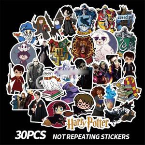 diy çıkartmalar dekorasyonu telefon su geçirmez karikatür aksesuarları hediye scrapbooking 30pcs Harry Potter oyuncaklar pasters fanlar çıkartmaları
