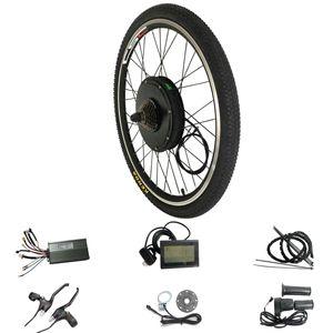 48 V 1500 W LCD Ekran Elektrikli eBike Kiti 20 24 26 700C için 28 29 inç Arka Bisiklet Tekerlek Motor Elektrikli Bisiklet Dönüşüm Kiti