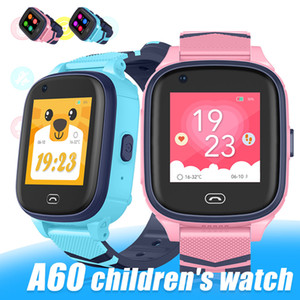 A60 4G Kinder WIFI Smart-Uhren Fitness-Armband-Uhr mit GPS-Connected wasserdichten Baby-Mobile-Smartwatch für Kinder mit Kleinkaste
