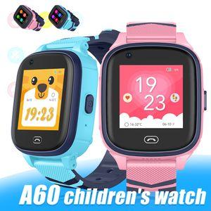 A60 4G детские Wi-Fi смарт-часы фитнес-браслет часы с GPS-подключением водонепроницаемый детские мобильные смарт-часы для детей с розничной коробкой