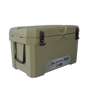 Roto moldado PU Foam 50L frio e mais quente de plástico rígido Cheap Ice Cooler Box para pesca, camping, caminhadas