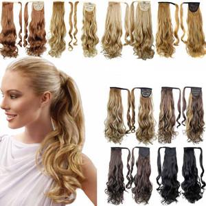 Clip di capelli sintetici coda di cavallo in coda di cavallo capelli coda di cavallo parrucca parrucche sintetiche ad alta temperatura capelli finti 15 stili RRA1894