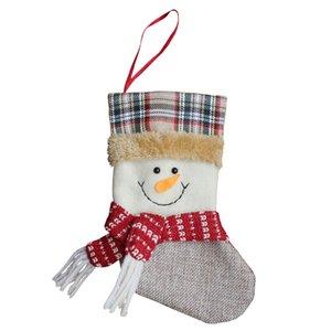 Fournitures mignon Ornement non-tissé Sock Forme Enfants de Noël Sac cadeau enfants Candy Bag Drop Shipping