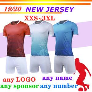 Uniforme de futebol em branco DIY Personalizado Sublimação kit gratuito Design A equipe de futebol shirt Tops Quick Dry respirável Mens Futebol