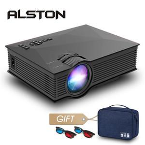 ALSTON UC68 / UC68H Led Projecteur UC46 plus version améliorée Home Cinema 2400 Lumens AV HDMI USB Miracast / Airplay