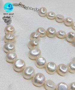 kızlar inci kolye toptan beyaz tatlı su düğün necklacefor külçe basit inci kolye 18 inç mercan gem kültüre