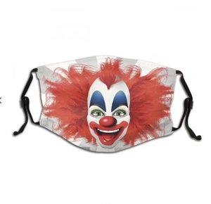 Joker visage Couvre-masque réutilisable réglable lavable Parti antipoussière sports de plein air en toute sécurité respirant masques soie coton visage Outils d'impression