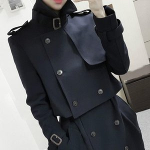 Women's Double Button Trench Women's Long Classic Windbreaker Trench Coat Spring Autumn Outwear top + dress Lady Fashion Coat