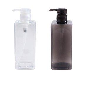 600ml Büyük Kapasiteli Basın Tipi Split Şişe Siyah Ve Beyaz Şeffaf Kozmetik Konteyner Şampuan Duş Depolama Şişe