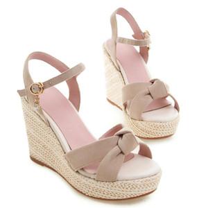 Roman Flock Buckle Sandals Women Open Toe Wedges Platform High Heels Sandals Women Summer Casual Shoes Woman Ciabatte Donna
