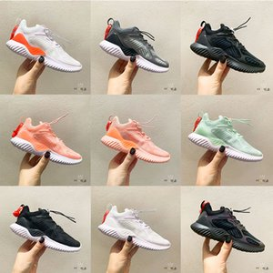 2020 Kids Boys Alphaboots Mint Green White Girls Running Shoes Pink Triple Black Top Quality Lightweight Cool Grey Sports Sneakers
