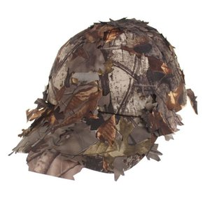 Unisex Camouflage all'aperto sport Snapbacks Cs Fishing 3D Cappello Camping Jungle Bionic LeavesAG0X