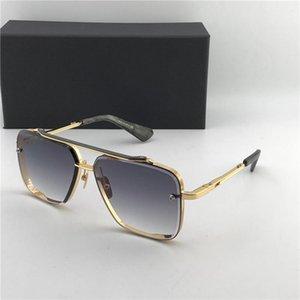 Men Lunettes de soleil d'or gris noir dégradé 62mm unisexe Lunettes de soleil mode Sun Shades Glassses 121 avec la boîte
