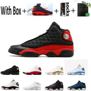 Мужские 13 13s Баскетбол обувь кроссовки Женщины Jumpman Китайский Новый год Бред Рэй Аллен PE OG Flint Island Green Lakeres Black Cat обувь