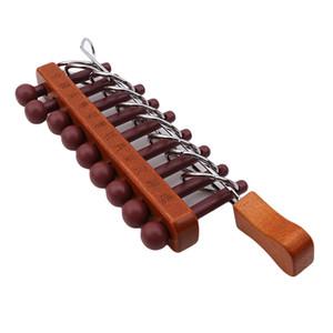 Clássico de madeira 9 Anéis Vinculados Enigma Brinquedos Educativos Jogo de Quebra-cabeças Para O Bebê Inteligência Precoce Desenvolver