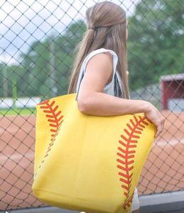 sacs fourre-tout en toile de sport de plein air gymnase grande taille mode femme dame sacs à main de bande dessinée sacs d'épaule baseball softball de football de basket-ball